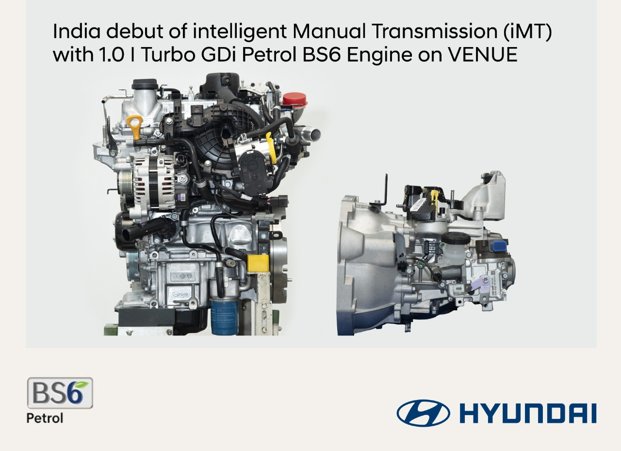 Hyundai To Introduce Innovative 2-pedal Clutch-less tech in Venue SUV