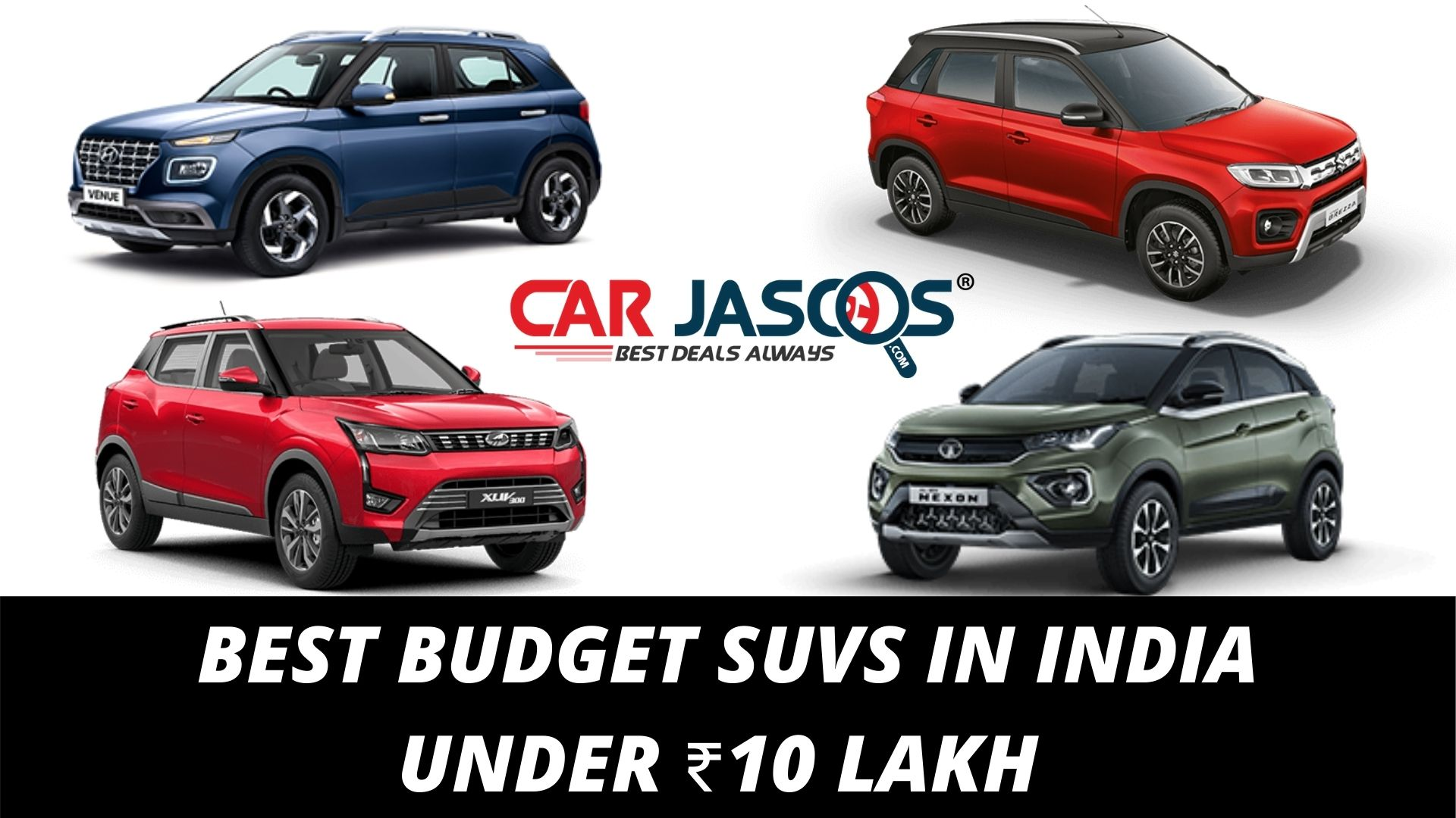 BEST BUDGET SUVS IN INDIA UNDER ₹10 LAKH