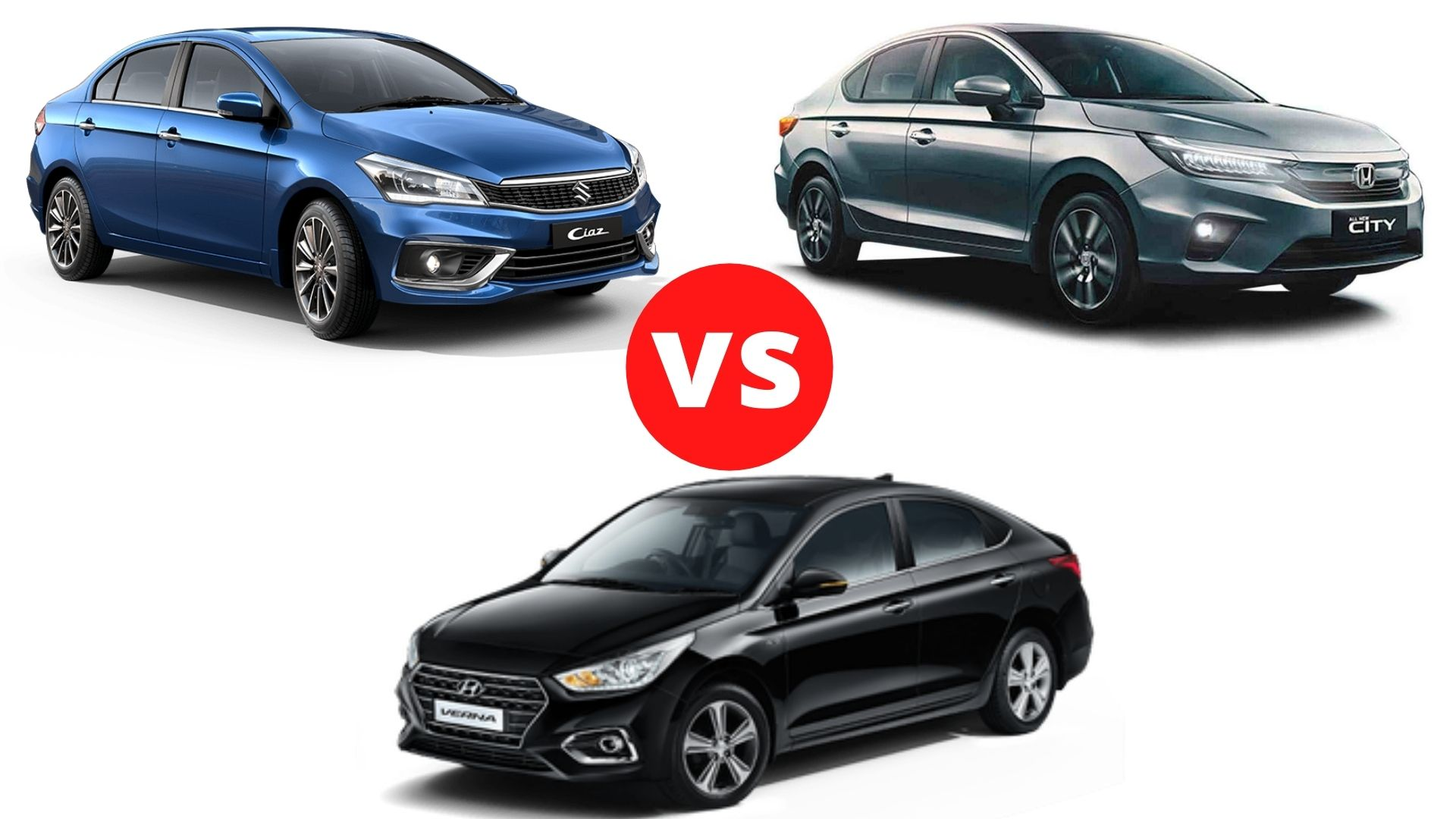 Maruti Suzuki Ciaz vs Hyundai Verna vs Honda City Comparison
